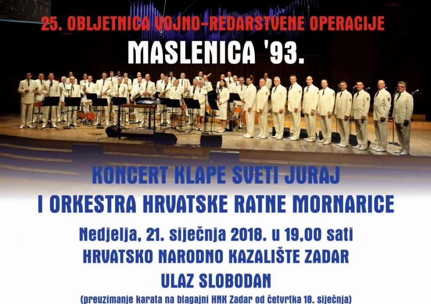 U nedjelju koncert Klape Sv. Juraj i orkestra HRM