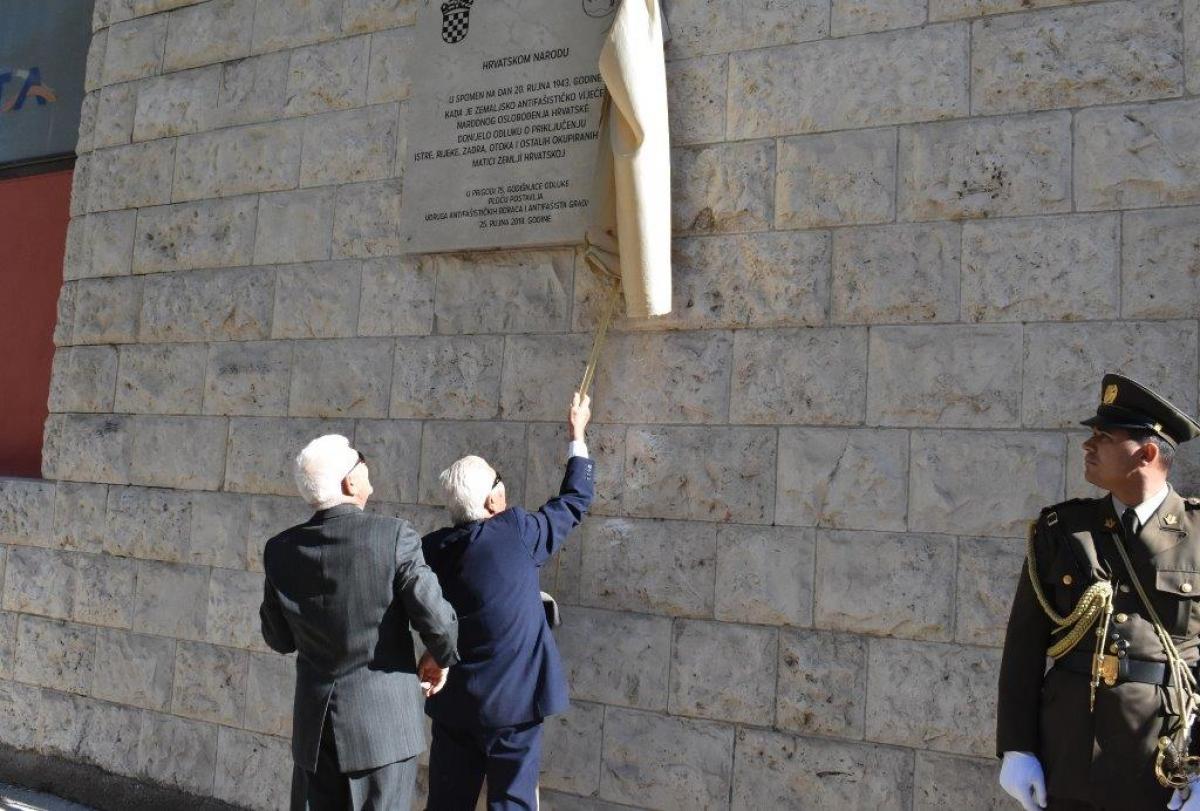 Obilježena 75. godišnjica donošenja Odluke o pripojenju Istre, Rijeke, Zadra, otoka i ostalih okupiranih krajeva matici zemlji Hrvatskoj.