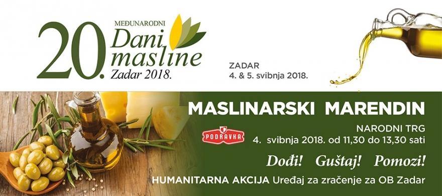 20. Međunarodni Dani masline 4. i 5. svibnja u Zadru i na Ugljanu