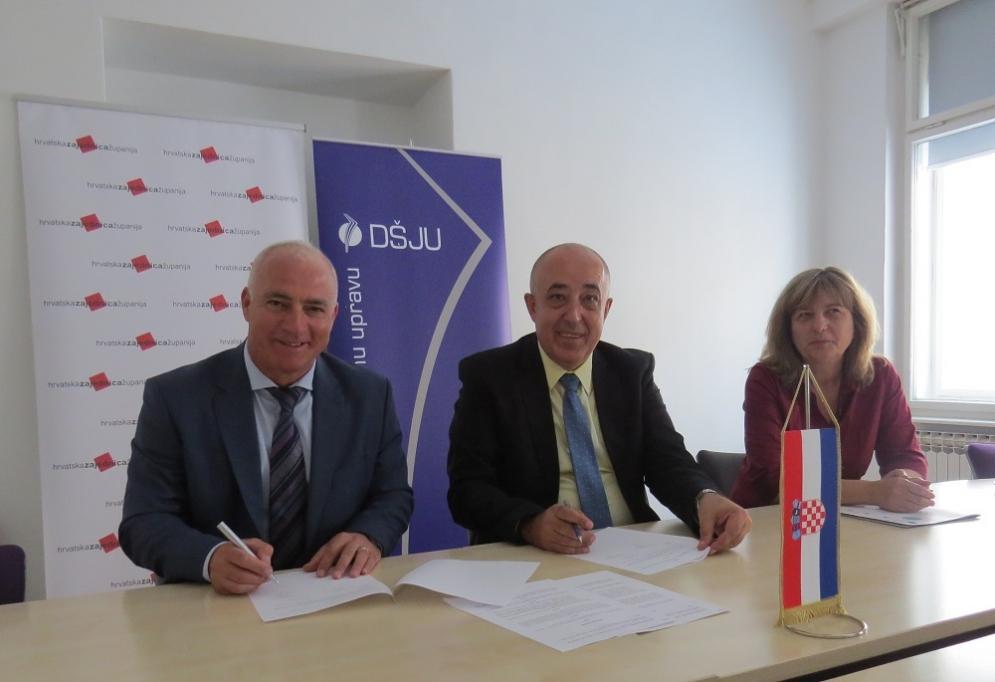 Hrvatska zajednica županija i Državna škola za javnu upravu potpisale Sporazum o suradnji