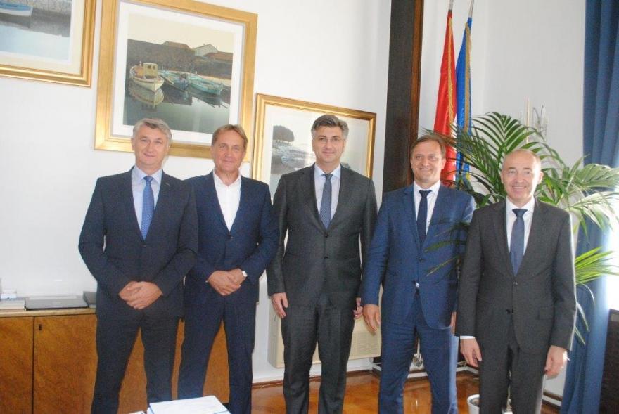 Predsjednik Vlade RH  Andrej Plenković posjetio  Zadarsku županiju