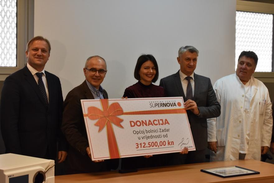 Supernova donirala Općoj bolnici Zadar uređaj vrijedan 312 tisuća kuna
