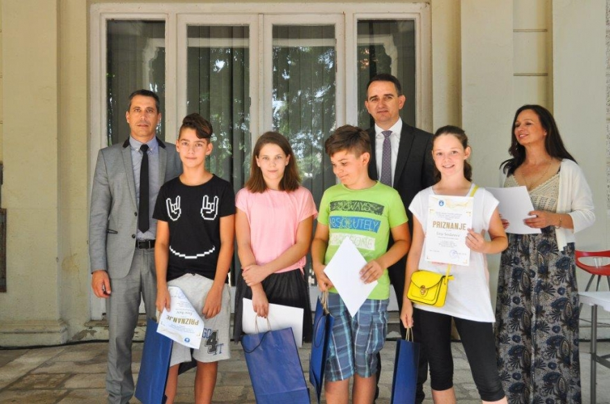 Zamjenik župana primio nagrađene učenike