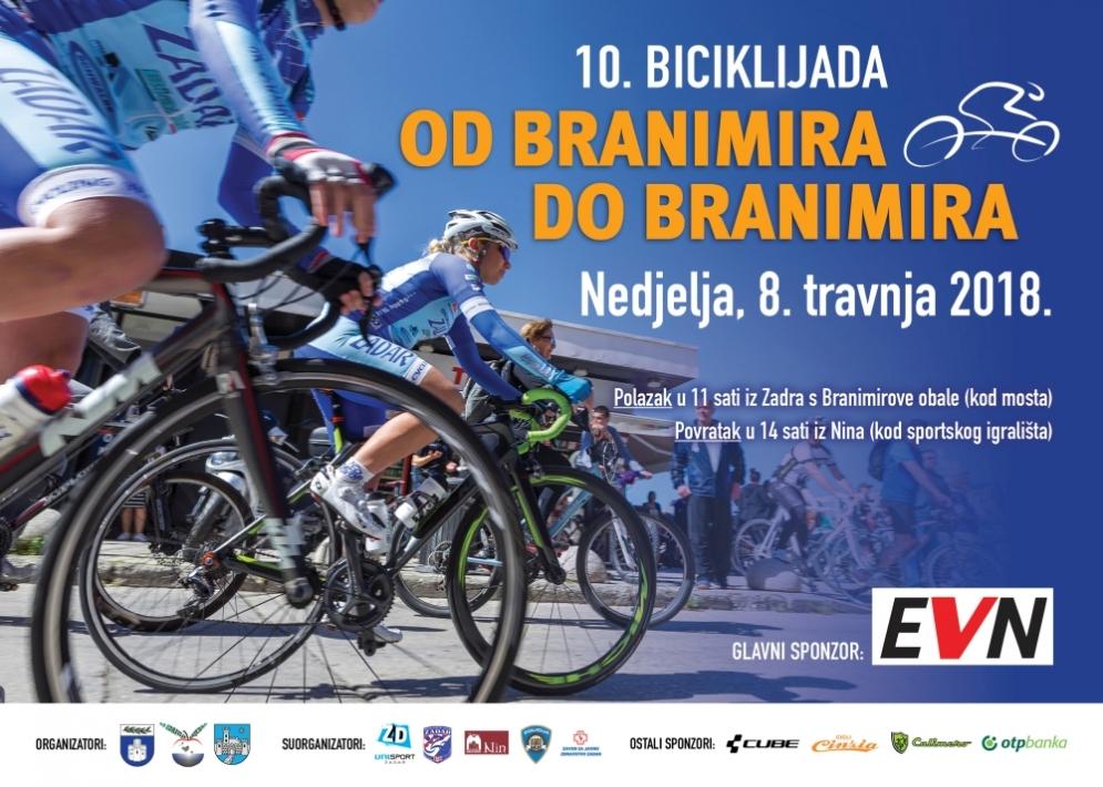 """10. Biciklijada """"Od Branimira do Branimira"""" - 8. travnja 2018. godine"""