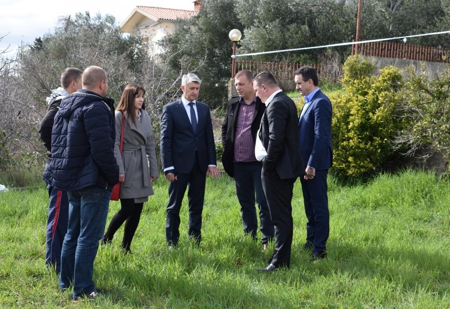Župan Longin u obilasku klizišta u Posedarju