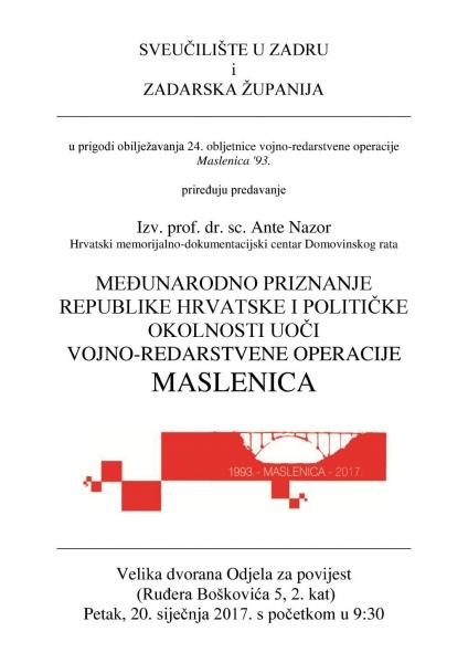 Predavanje prof.dr.sc. Ante Nazora